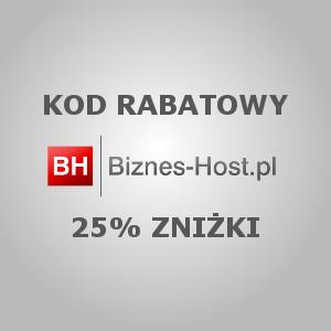 Kody rabatowe, zniżka 25% – Biznes-Host.pl