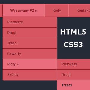 Tworzymy rozwijane menu HTML5 i CSS3