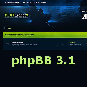 Udostępniamy #1 – szablon phpBB 3.1 playGlobal – CS GO
