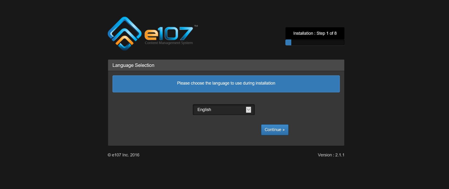 Instalacja e107 na serwerze